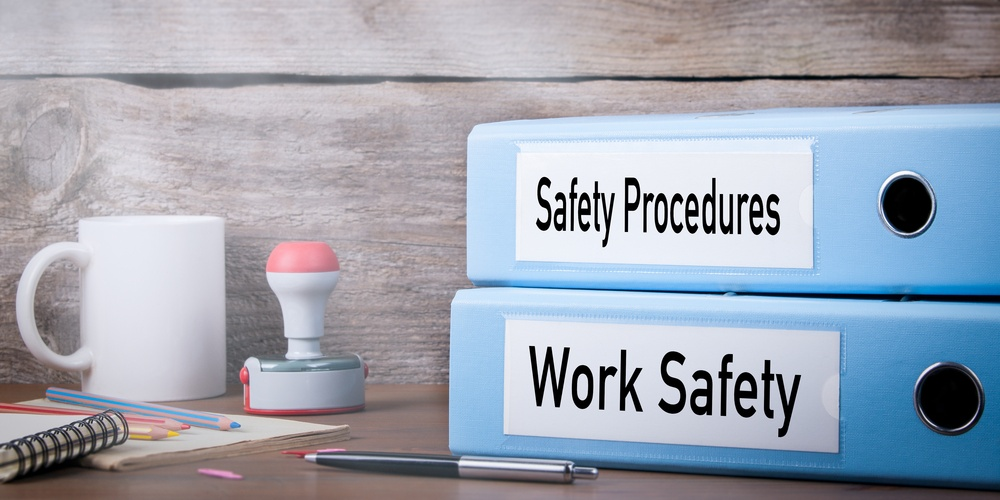 binders of safety procedures and work safety